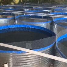 户外地面养殖圆形镀锌板帆布鱼池高位池帆布养殖