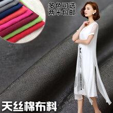 松棉采购天丝棉涤棉布料薄款里布多色可选现货批发图片