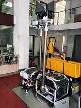 户外作业大型施工发电机探照灯图片
