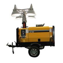 小型拖车款移动照明车灯方位泛光工作灯图片