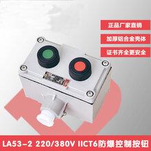 鑄鋁防爆控制按鈕LA532兩鈕工業廠房開關盒可定制圖片