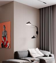 工裝形象墻家裝沙發背景墻裝飾板造型板波浪板圖片