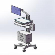 醫療臺車生產廠家移動查房護理推車電腦一體機工作站臺車