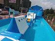 2020儿童水上乐园出租水上闯关租赁粉色滑道出租图片