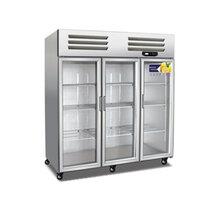 美厨大三门保鲜柜BS1.6G3冷藏保鲜柜玻璃门饮料陈列柜茶叶柜图片
