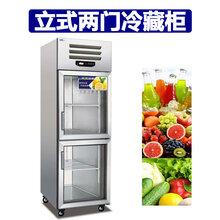 美厨二门冷藏柜ES0.5G2饮料柜保鲜柜陈列柜上下两门冷藏展示冰箱
