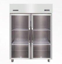 久景风冷二玻璃门冰箱久景SFCG-140两门风冷冷冻柜两大玻璃门冷冻展示柜