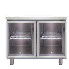 久景吧台展示柜冰箱久景饮料柜LRCG-90二玻璃门风冷冷藏柜久景卧式冷藏工作台