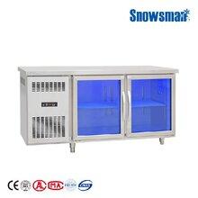 雪人BX-1500FC工作台1.5米风冷蓝光工作台雪人吧台冷藏保鲜冰箱雪人不锈钢平台冷柜