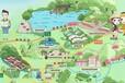 杭州景點地圖繪制手繪地圖制作景區導覽圖設計