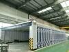 机械厂专用伸缩移动喷漆房移动式伸缩房