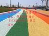蘭州彩色透水混凝土藝術壓花地坪,海綿城市透水地坪材料施工