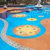 广州彩色洗砂地面,通体洗砂地面,聚合物地坪材料厂家专业施工