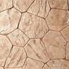 誉臻彩色压模透水混凝土胶粘石洗砂面地坪彩色防滑路面压花墙面