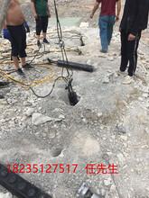 鹤壁石材厂无需放炮凿石头分裂机好不好用图片