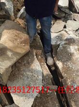 石灰石开采设备液压静态破石机价格深圳龙岗图片