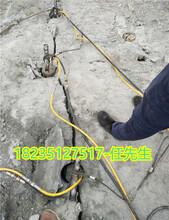 修建公路破石头开挖裂石机减少人工自贡沿滩图片