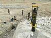 西宁岩石拆除裂石头机静态破石视频