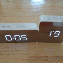 厂家新款电子闹钟镜面钟