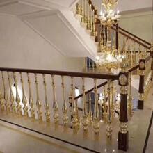 别墅铜楼梯扶手最新案例图片