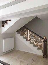 江西欧式铜楼梯扶手纯铜雕刻楼梯护栏设计标志图片