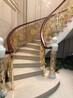 法拉蒂尼銅藝屏風銅藝樓梯連體銅樓梯