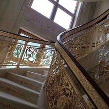 铜楼梯厂优游平台1.0娱乐注册铜屏风铜楼梯铜扶手铜楼梯品牌图片