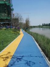 寧波彩色透水地坪/彩色透水混凝土施工廠家材料圖片