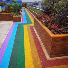 海绵城市建设透水混凝土彩色透水地坪一体化盲道生态透水地坪材料直销工程施工
