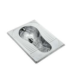 吉林長春不銹鋼蹲便器304白鋼蹲便器一體式水沖型蹲坑圖片