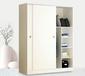 河北厂家供应现代简约经济型环保卧室家具衣帽柜两门三门组装储物板式衣柜