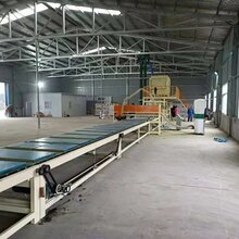 新型双面砂浆岩棉复合板设备与全自动热收缩膜包装机