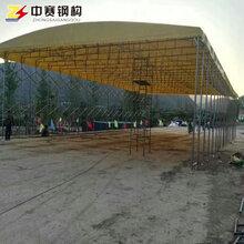 陕西西安专业定制大型活动雨棚户外伸缩遮阳蓬移动推拉雨棚物流仓储推拉帐篷图片