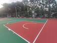 硅PU网球场学校运动场地硅PU球场图片