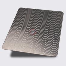 彩色不锈钢蚀刻波浪纹供应201不锈钢板材定制不锈钢不定尺板材图片