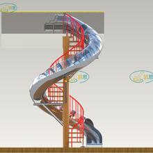 公园广场室内外游乐不锈钢滑梯大型不锈钢滑梯商场旋转滑梯源头厂家