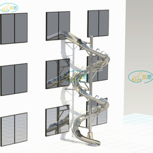 不锈钢滑梯商场高空消防逃生螺旋滑滑梯游乐设备源头厂家