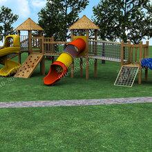 幼儿园玩具户外儿童木质滑滑梯攀爬架小区公园组合滑梯游乐设施