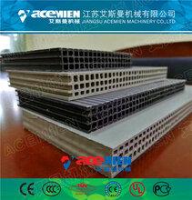 PP模板生产线全自动免换网单螺杆915mm塑料中空建筑模板1220中空塑料模板生产线图片