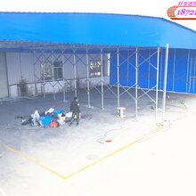 南翔推拉棚雨篷移动推拉篷货仓棚嘉定雨篷厂家