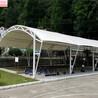 上海滬東新村防水上海軒譽鋼結構停車棚品種繁多,膜結構車棚