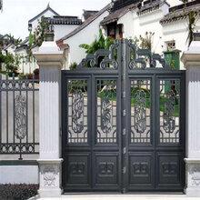 佛山歌思奇定制别墅庭院铝艺大门对开门折叠门图片