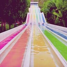 抖音網紅游樂項目大型彩虹滑梯其實是旱雪滑道彩虹?;葑赓U圖片