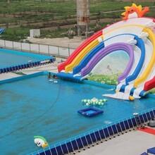 水上樂園生產廠家供應水上闖關模型水上沖浪設備出租圖片