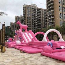 粉色滑梯出租粉色滑道出租粉色滑梯粉爆夏日