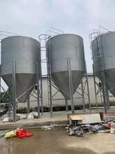 料塔15吨自动化喂料线养殖设备饲料塔20吨镀锌板料仓料罐料塔10吨图片