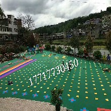 懸浮式拼裝地板幼兒園室外專用籃球場專用環保拼計地板圖片