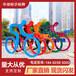菏澤體育主題公園健康步道標識牌戶外跑步牌運動人物造型牌廣告導向牌