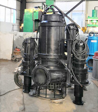 泥沙泵厂-潜水抽砂泵-搅拌式耐磨泥砂泵图片