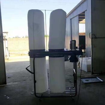直销双桶移动工业吸尘器木屑木粉工业吸尘器旋风吸尘器雕刻机布袋除尘吸尘器